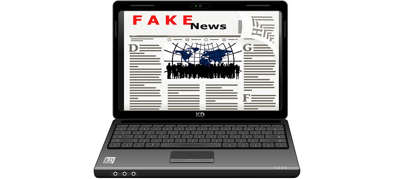 fake fake news media laptop courtesy of Pixabay