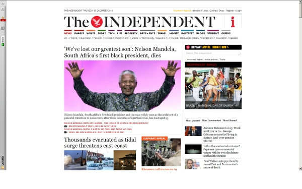fullscreen Madiba Independent co uk 2