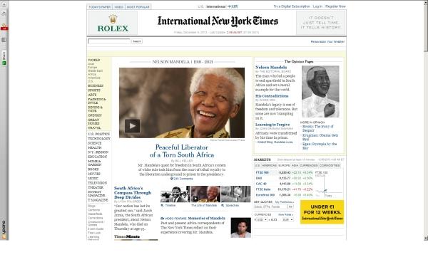 fullscreen Madiba International New York Times Friday mid-morning 2