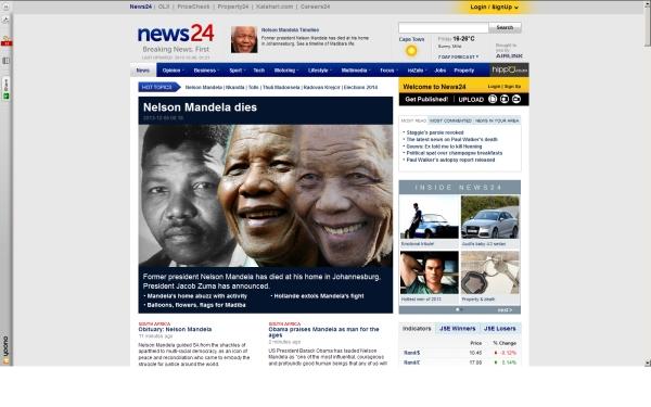 fullscreen Madiba News24