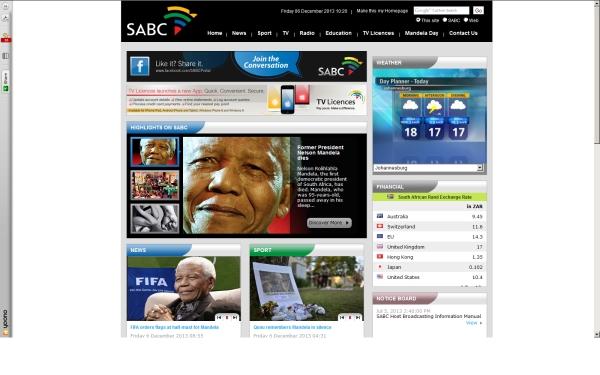 fullscreen Madiba SABC co za Friday mid-morning 2