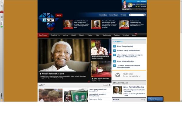 fullscreen Madiba eNCA Friday mid-morning