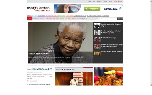 fullscreen Madiba mg main site