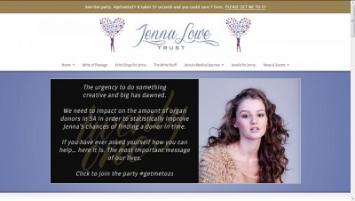 jennalowe.co.za homepage