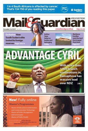 Mail & Guardian, 3-9 November 2017