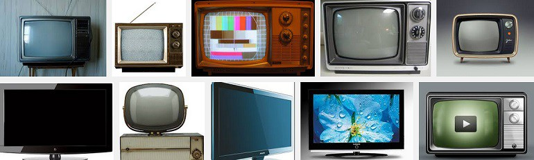 Television sets via Google Image Search