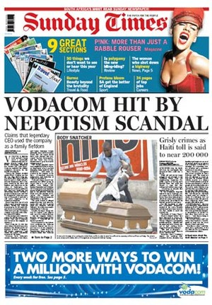Vodacom hit by Nepotism scandal