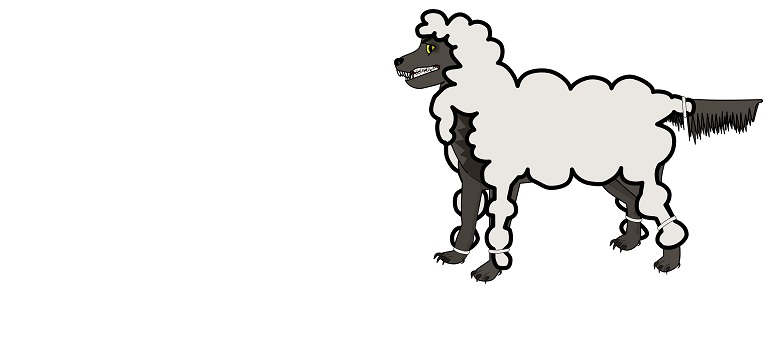 wolf sheep clothing disguise coat courtesy of Pixabay.com amended for slider