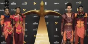 2018 giant Loeries statuette and warriors