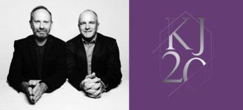 Alistair King & James Barty with KJ20 logo