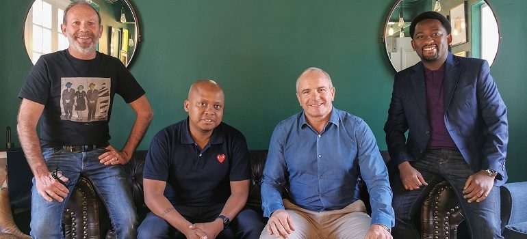Alistair King, Sbu Sitole, James Barty, and Xola Nouse