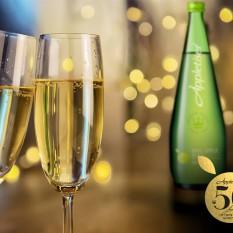 Appletiser SA Facebook 50th anniversary champagne glasses with Appletiser