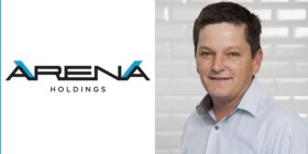 Arena Holdings logo and Andrew Gill