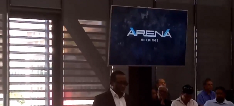 Arena Holdings video screengrab from Twitter
