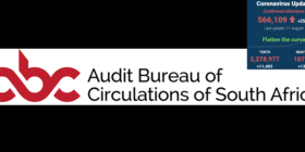 Audit Bureau of Circulations ABC logotype with SA covid-19 stats 11 Aug 2020 - Media Hack Collective