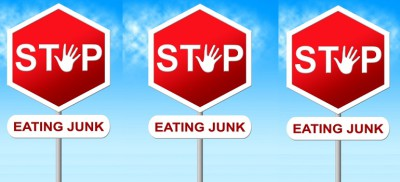 Based on Stop Eating Junk Means Unhealthy Food And Danger by Stuart Miles courtesy of FreeDigitalPhotos.net