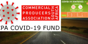 CPA covid-19 fund logo with road pic courtesy of Pixabay with NICD covid-19 stats 29 March 2020