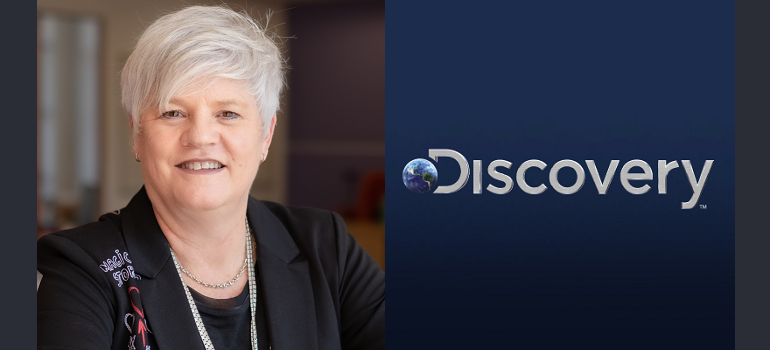 Claire O'Neil and Discovery Inc logo