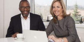 CoCurrency CEO Ivan Moroke and group CEO of Havas Southern Africa Lynn Madeley