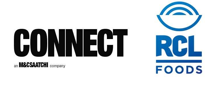Connect logo and RCL Foods logo