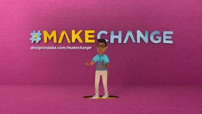 Design Indaba 2015 #MAKECHANGE TVC screengrab - #makechange