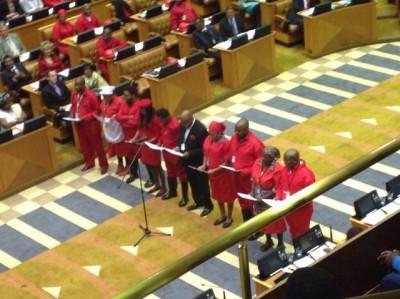 EFF in Parliament. Source: EFF Facebook page.