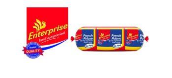 Enterprise logo and French polony no pork