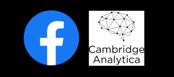 Facebook logo and Cambridge Analytica logo