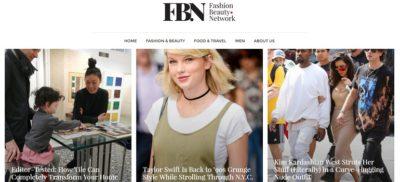 Fashion Beauty dot Network homepage