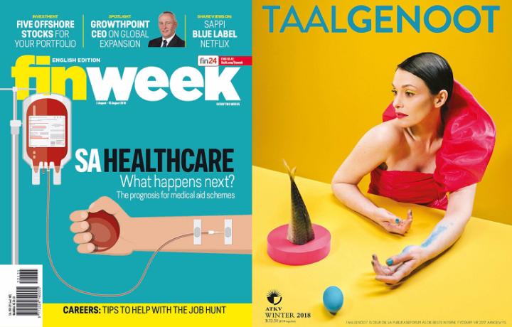 Finweek 2-15 August 2018 and Taalgenoot Winter 2018