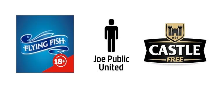 Flying Fish logo, Joe Public United logo and Castle Free logo