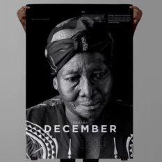 Geometry Global Cape Town for Iziko Slave Lodge Museum Slave Calendar - holding up Regina December