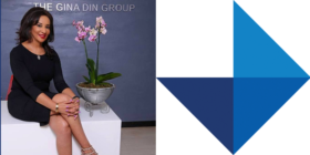 Gina Din-Kariuki and Edelman logo