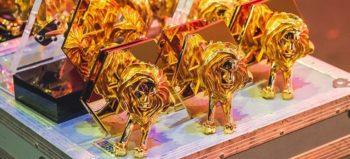 Gold Cannes Lions statues via Facebook