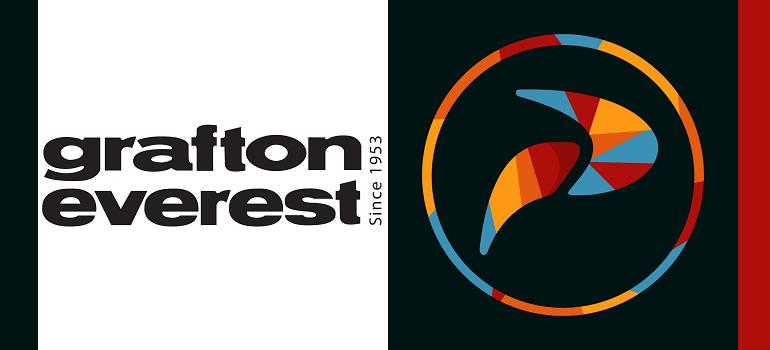 Grafton Everest logo and Penquin logo