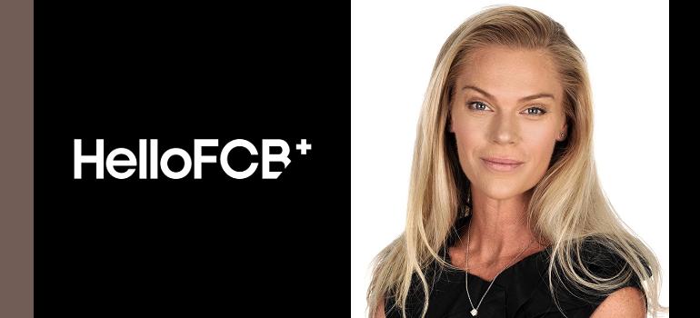 HelloFCB+ logo and Danielle Sneiders