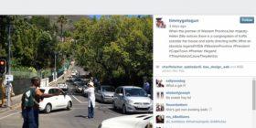 Instagram tommmygotagun Helen Zille directing traffic