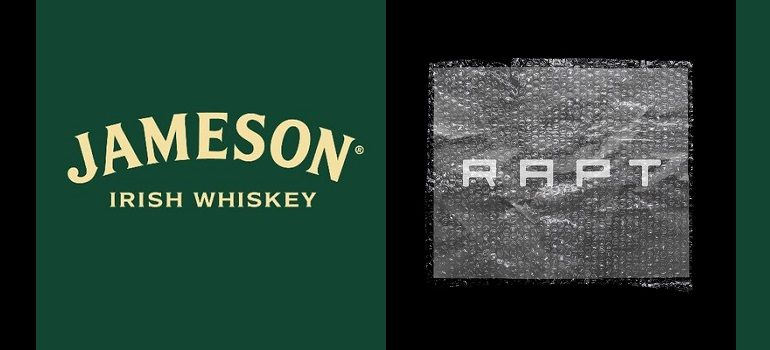 Jameson Irish Whiskey logo and RAPT logo