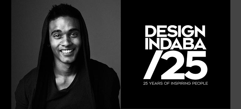 Jineil Kandasamy and Design Indaba 25 logo