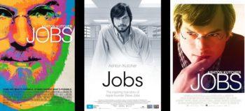 Jobs (2013) movie poster — three versions