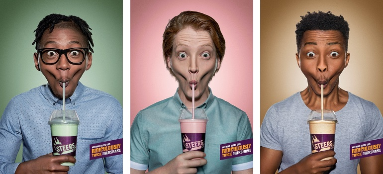 Joe Public campaign for Steers Ridiculously Thick Milkshakes slider