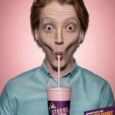 Joe Public poster for Steers Milkshakes Matt
