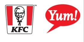 KFC logo and Yum logo