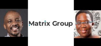 Kgaugelo Maphai, Matrix Group logo and Dineo Mahloele