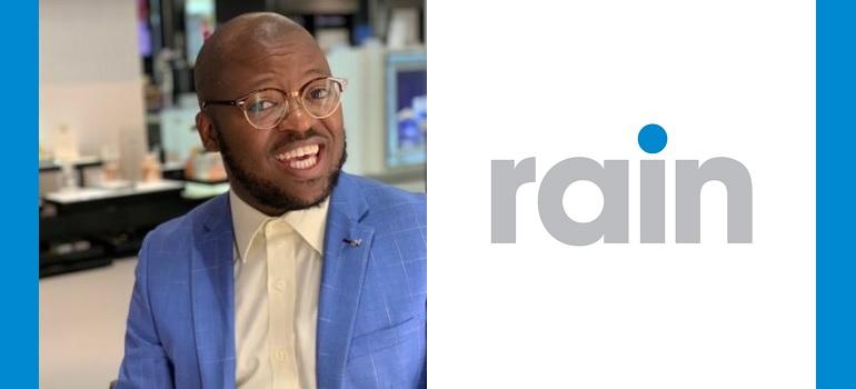 Khaya Dlanga and rain logo