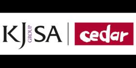King James Group SA logo and Cedar Communications logo