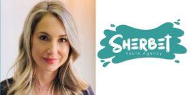 Lara Petersen and Sherbet Youth Agency logo