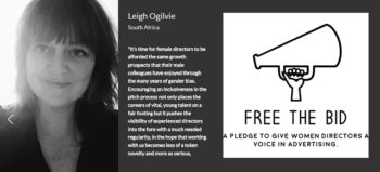 Leigh Ogilvie and Free The Bid logo