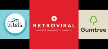 Lil-Lets logo, Retroviral logo and Gumtree logo