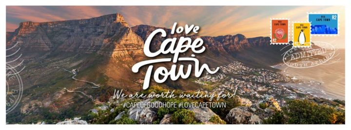 Love Cape Town we are worth waiting for postcard Table Mountain aerial view